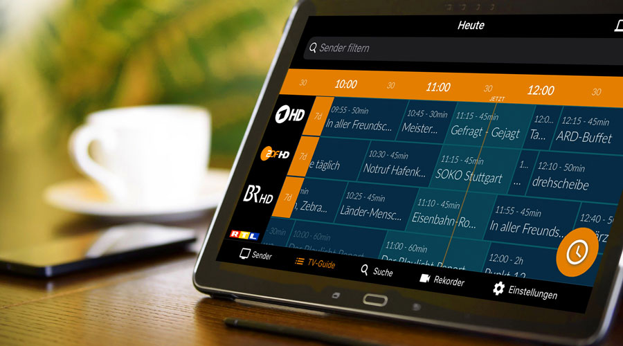 Tablet mit IP-TV Guide